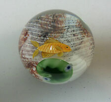 ORIENT & FLUME LIMITED EDITION of 250 ART GLASS PAPERWEIGHT GOLDFISH w/ LILY PAD