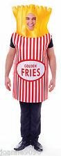 Adult Mens Ladies French Fries Chips Funny Fast Food Fancy Dress Costume Outfit