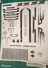 Tamiya 1/14 Scania Truck Dutch Decal Set *Any Colour*