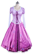 Princess Rapunzel Dress Tangled Adult Cosplay Costume Women Plus Size