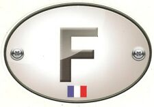 "Sticker "" F "" FRANCE pour auto  150mm x 105mm"