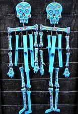 Drôle en bois squelette mobile carillon éolien figure 75 cm home/garden decor fait main