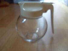 ** Milchspender/ Sahnespender/ Honigspender** Glas mit weißen Kunststoffdeckel