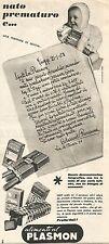 W1989 Alimenti al PLASMON - Pubblicità del 1958 - Vintage advertising