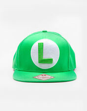 OFFICIAL NINTENDO SUPER MARIO BROS LUIGI GREEN SNAPBACK CAP (BRAND NEW)