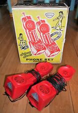 VINTAGE TRIANG JOHNNY SEVEN PHONE SET 1960's RARE EXCELLENT CONDITION TOPPER TOY