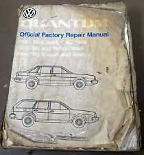 VW QUANTUM Official Factory Repair Manual ~ Volkswagen