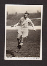 R. Donnelly Manchester City Football Vintage 1935 Cigarette Card