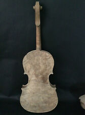 Nice viola 16'' bird eye maple wood back side old spruce top unvarnished NO30