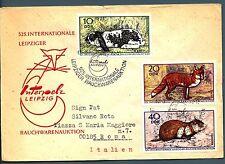 DDR - 1970 - Aste internazionali di pellicce, a Lipsia, tre esemplari su lettera