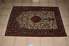 "Beautiful Extremely Fine Iran Silk and Wool Carpet Rug 3.5""x 5.5"""