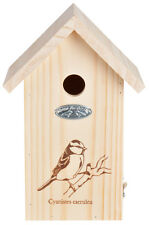 Fallen Fruits bird box for blue tits nesting FSC wood timber garden wildlife