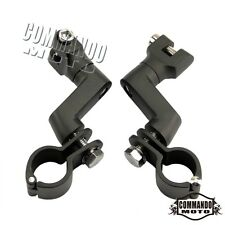 Black Motorcycle O-Ring Foot Peg Magnum Clamps Highway Mounts For Harley