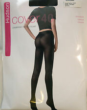 Hudson Large Size Black 40 Denier Opaque Tights from the Cover 40 range