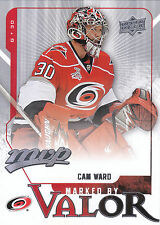 08-09 UPPER DECK MVP MARKED BY VALOR #MV4 CAM WARD HURRICANES *8194