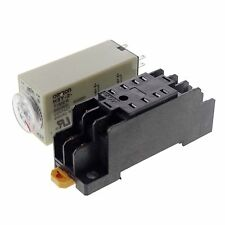H3Y-2 Power On Time Delay Relay Solid-State Timer Max 60Min 220VAC DPDT & Socket