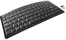 TRUST CURVE MINI WIRELESS KEYBOARD 10m RANGE 2.4gHZ MICRO USB ADAPTER