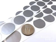 """100 - Scratch Off Labels 1"""" Round Silver Stickers (25.4mm)"""