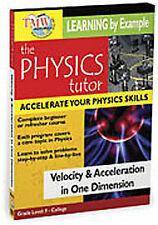 THE PHYSICS TUTOR: VELOCITY & ACCELERATION IN ONE DIMENSION [REGION 1] NEW DVD