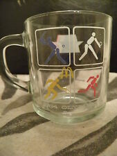 1984 Olympics clear glass McDonalds mug
