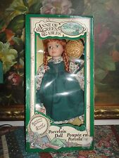 "Anne of Green Gables Porcelain Doll Heirloom Collection 16"" New in Box Handcraft"