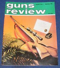 GUNS REVIEW MAGAZINE SEPTEMBER 1982 - THE STAR MODEL FR .22 TARGET PISTOL