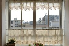FRENCH COUNTRY STYLE CHECKED KITCHEN CURTAINS TIER & VALANCE WINDOW SET