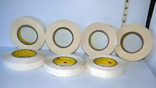 """7 Rolls of 1"""" Wide 3 M Brand Two Sided Adhesive Tape Crafts/Home Projects"""