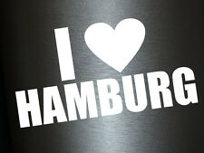 1 x 2 Plott Aufkleber I Love Hamburg Herz Heart Sticker Tuning Autoaufkleber Fun