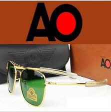 Aviator Style, 55 MM Pilot AO Sunglasses American Optical Style Gold, Look Alike