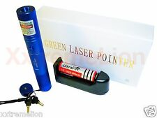 NEW 30 Miles Range Green Beam Laser Pointer Light Pen High Power Lazer BLUE L@@K