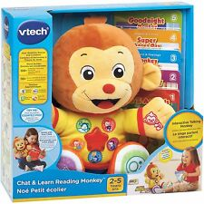 VTech Chat & Learn Reading Plush Monkey PreSchool Soft Kids Learning Toys Books