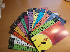DC: WATCHMEN #1-12, COMPLETE SET, ALAN MOORE/GIBBONS, 1986, VF- (7.5) - NM (9.4)