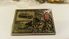 LONDON TAXI cab in classic painting with Union Jack British flag #1 PIN PIN'S