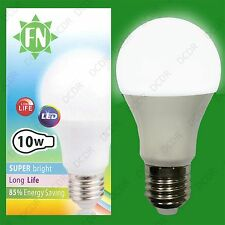 10x 10W A60 GLS ES E27 6500K Daylight White Frosted LED Light Bulb Lamp 110-265V