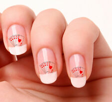 20 Nail Art Decals Transfers Stickers #50 - Cards Royal flush