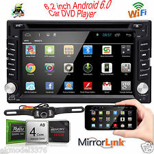 "Android6.0 6.2"" Double Din 3G-Wifi Car GPS Nav DVD Player BT Indash Radio+CAMERA"