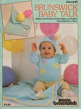 Brunswick Baby Talk #877 Knit Crochet Patterns Afghan Sweater Sets Toddler 1987