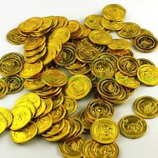 50pcs Plastic Gold Coins Pirate Pirates Treasure Chest Coin Loot Party Favors
