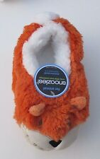Fox Small 5 6 SNOOZIES CLASSIC FUR ANIMAL SLIPPERS nwt
