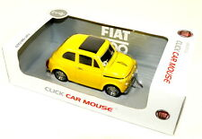 Classic VINTAGE FIAT 500 Wired Mouse Giallo Nuovo e Originale 50906962