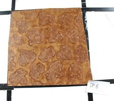 "Dark Leaf Print Scrap Leather Hide Craft Piece approx. 12"" x 12"" TP5"