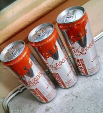 3x Red Bull TOTAL ZERO - THE ORANGE EDITION - THREE (3) Full, Sealed 12 oz Cans