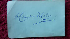 CONDUCTOR MAURICE MILES /PIANIST PHYLLIS SELLICK AUTOGRAPHS