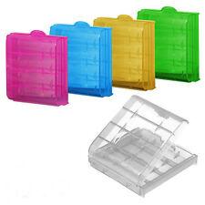 2x Batteriebox Aufbewahrungsbox Transparentbox Kunststoff für AAA Akkus Batterie
