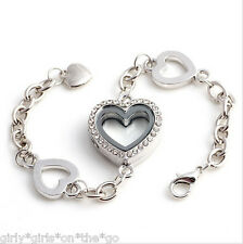 *SWEET HEART* Bracelet Locket & ORIGAMI OWL CRYSTAL holds your Floating Charms