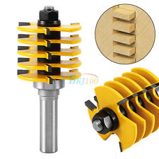 "1/2"" Shank Adjustable Box Finger Joint Router Bit 5 Blade 3 Flute Woodworking"