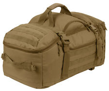 tactical mission bag pack backpack 3 in 1 convertible coyote brown rothco 23501