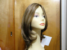 Malky European Multidirectional  Hair Wig Sheitel Light Brown Highlight14/8