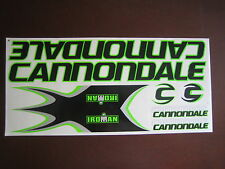 Cannondale Iroman Stickers Black, Green & Silver.